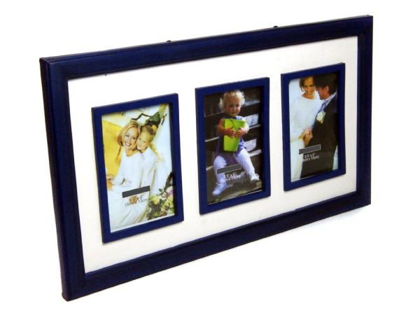 Bilderrahmen Bilder-Rahmen für 3 Innenbilder BLAU